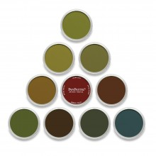 10 Farbe PanPastel Set Extra dunkle Töne Warm