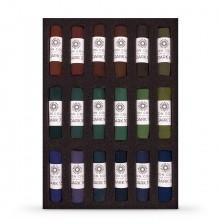 Unison Soft Pastels: Satz von 18 dunkle Juwel