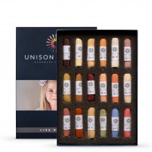 Unison Colour : Soft Pastel : Lisa Ober (Portrait) Set of 18