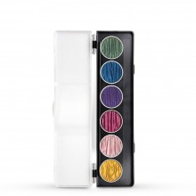 Finetec : Coliro : Pearlcolors : Mica Watercolour Paint : 30mm : Rainbow Set of 6