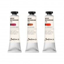 Jackson's : Artist Watercolour Paint : Red Set 1 : 21ml : Set of 3