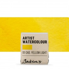 Jackson's : Artist Watercolour Paint : Half Pan : Cadmium Yellow Light