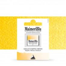 MaimeriBlu : Watercolour Paint : Half Pan : Naples Yellow medium