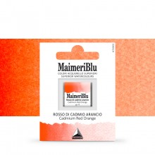 MaimeriBlu : Watercolour Paint : Half Pan : Cadmium Red Orange