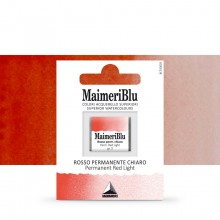 MaimeriBlu : Watercolour Paint : Half Pan : Permanent Red Light