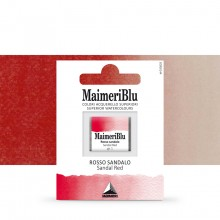 MaimeriBlu : Watercolour Paint : Half Pan : Sandal Red