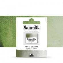 MaimeriBlu : Watercolour Paint : Half Pan : Hookers Green