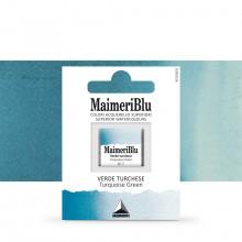 MaimeriBlu : Watercolour Paint : Half Pan : Turquoise Green