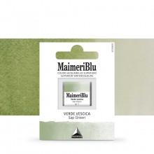 MaimeriBlu : Watercolour Paint : Half Pan : Sap Green