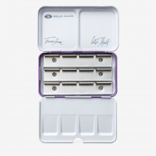 St Petersburg : White Nights : Empty Watercolour Box : Lilac : Holds 12 Full Pans