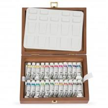 Schmincke Horadam Aquarell: Wooden Box-Set 24x5ml Rohre