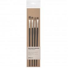 Jackson's : Oil & Acrylic Brush Shape Comparison Set : Set of 4 Procryl Brushes