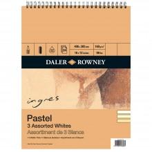 Daler Rowney : Ingres Pastel Papers : Spiral Pads : 3 Shades of White