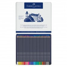 Faber Castell : Goldfaber Colour Pencils : Metal Tin Set of 24