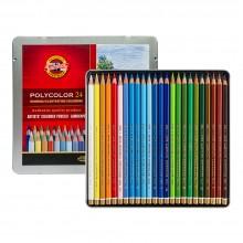 Koh-I-Noor: Becherfärbeapparat Set von 24 Künstler Coloured Pencils 3824: Landschaft