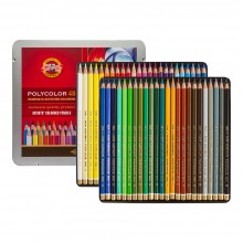 Koh-I-Noor: Becherfärbeapparat Set von 48 Künstler Coloured Pencils 3826