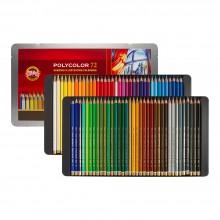 Koh-I-Noor: Becherfärbeapparat Set von 72 Künstler Coloured Pencils 3827