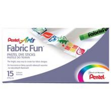 Pentel : Fabricfun Pastel Dye Sticks pack of 15