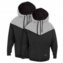 Montana : Zip Hoody : Black/Grey