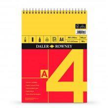 Daler-Rowney: A4: Serie Spirale Cartridge Pad 150 g - 25 Blatt