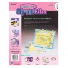 Grafix: White Inkjet Printable Shrink Folie A4: 6-Pack