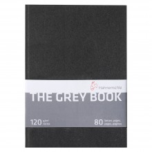 Hahnemuhle : The Grey Book : Sketchbook : 120gsm : 40 Sheets : A4