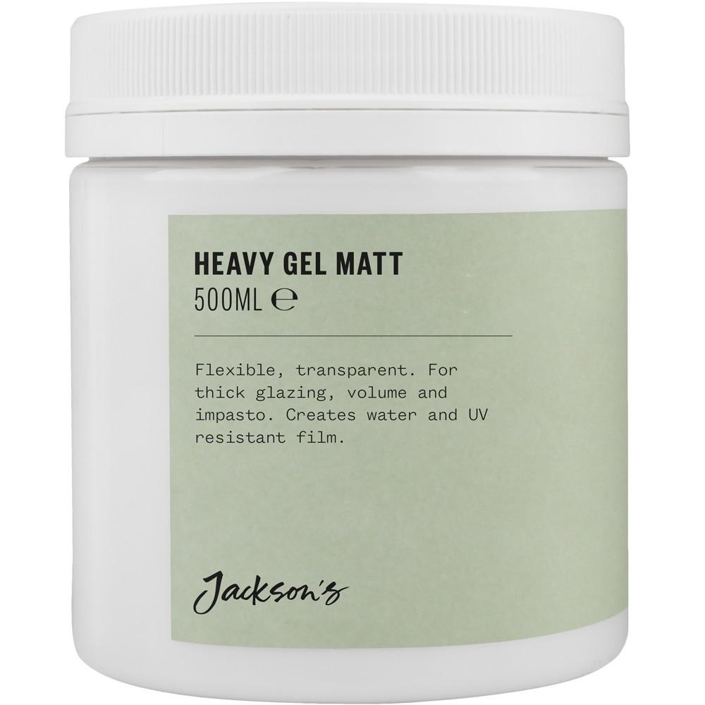 Jacksons : Acrylique : Médium Mat à Base de Gel Epais : 500ml