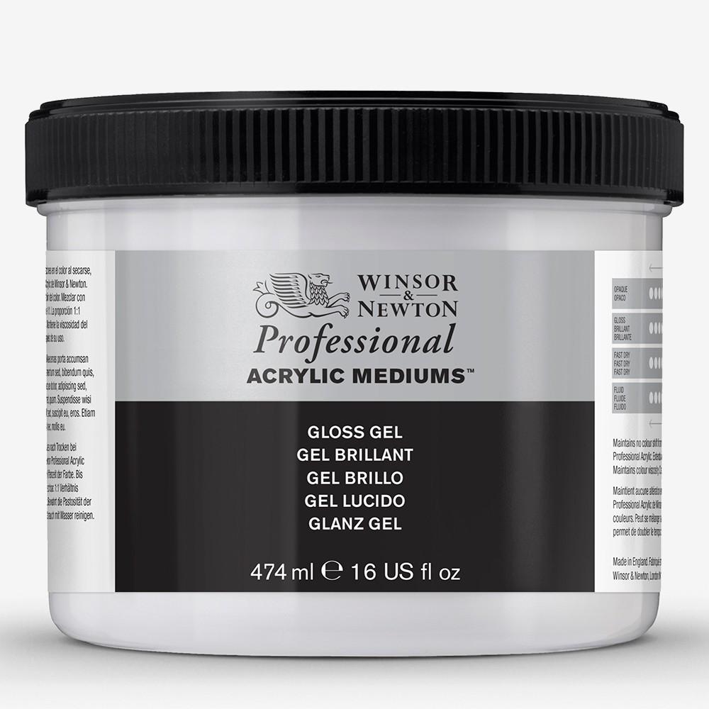 Winsor & Newton : Professionnel: Acrylique : Médium : Gel Brillant : 474ml