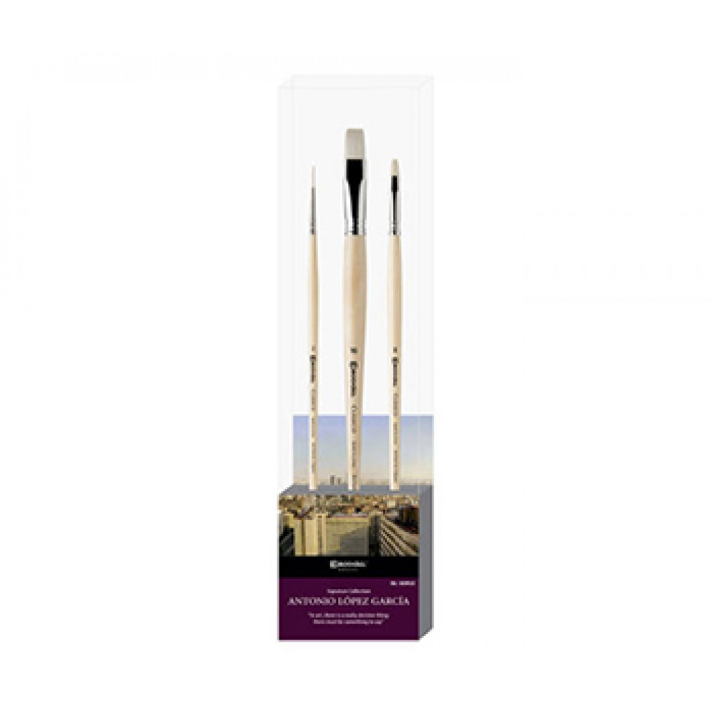 Escoda : Lot de Pinceaux Signature : Antonio Lopez 2 : Série 4628 / 5131