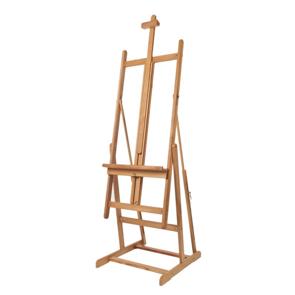Mabef : M08 hêtre Studio chevalet, max toile 71 po de haut, s'incline à complètement horizontale