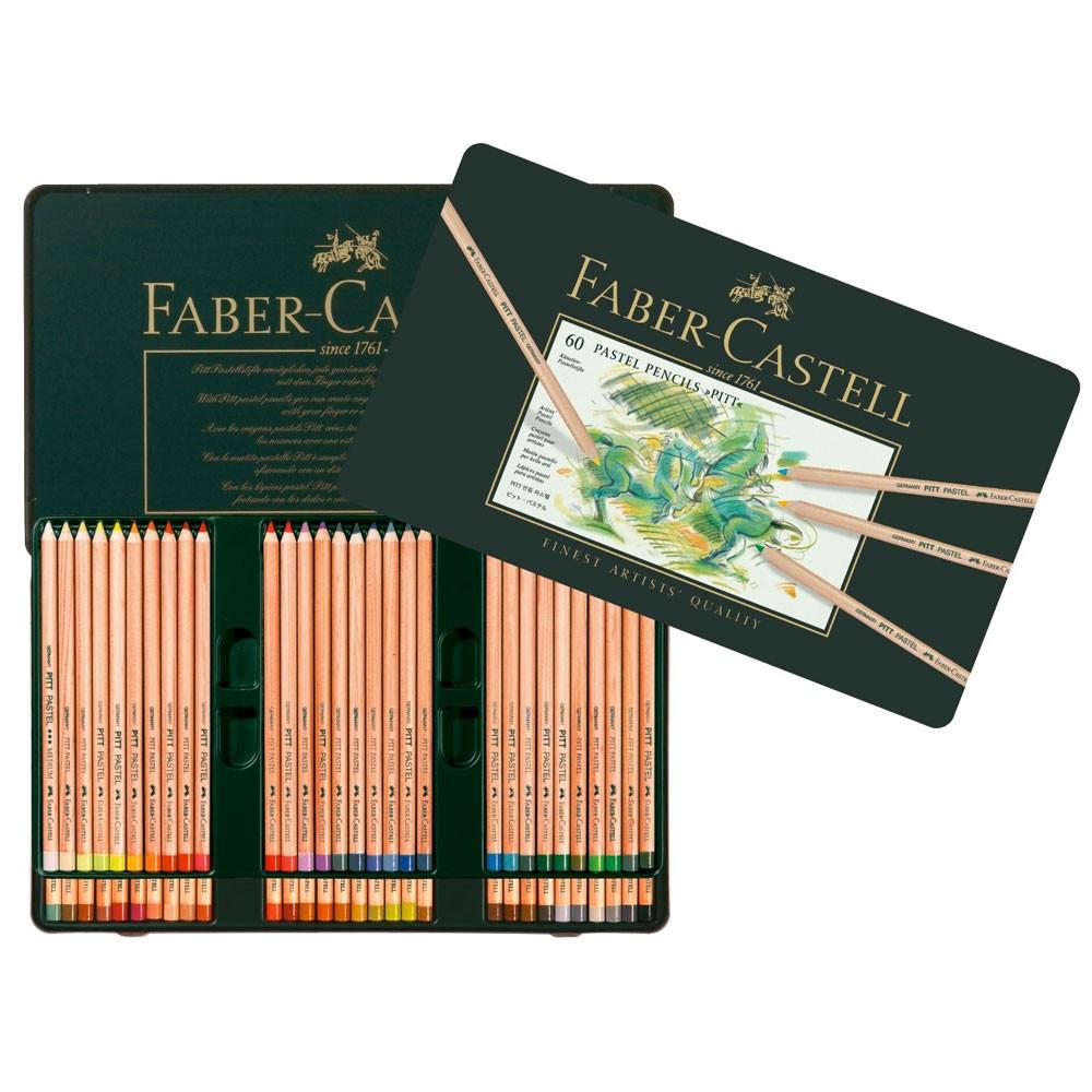 Faber Castell : Pitt Crayon Pastel : Boîte en Métal de 60