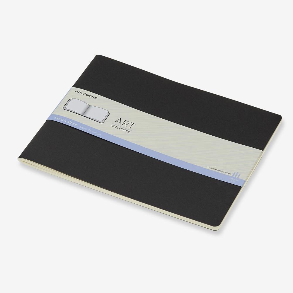 Moleskine : Art Collection : Album Croquis : 120g : Couverture Souple : XXL (21.6x27.9cm / 22x28cm) : Noir