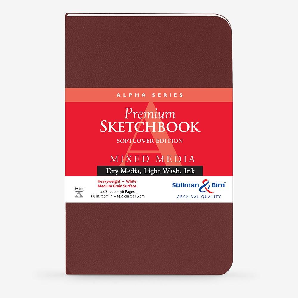 Stillman & Birn : Alpha : Couverture Souple : Cahier de Croquis : 150g : A Grammage Moyen : 22x14cm: Portrait