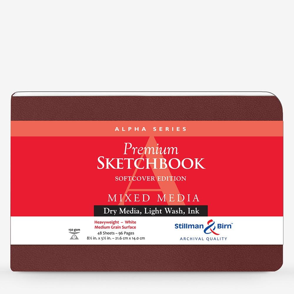 Stillman & Birn : Alpha : Couverture Souple : Cahier de Croquis : 150g : A Grammage Moyen : 14x22cm: Paysage