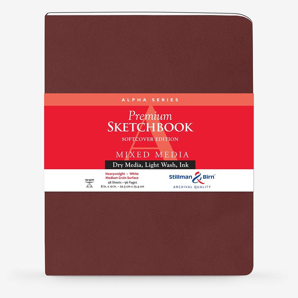 Stillman & Birn : Alpha : Couverture Souple : Cahier de Croquis : 150g : A Grammage Moyen : 21x25cm : Portrait