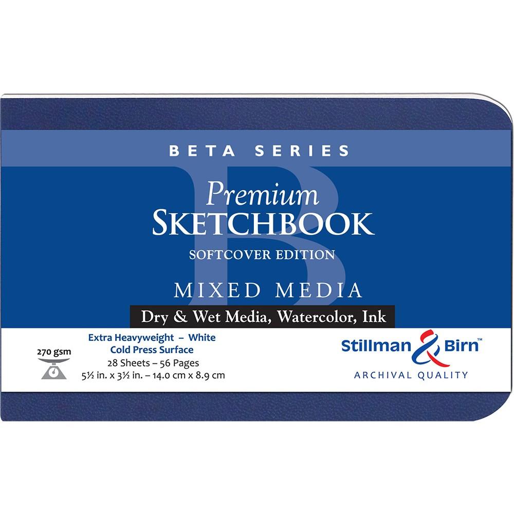 Stillman & Birn : Beta : Couverture Souple Cahier de Croquis : 270gsm : Grain Fin : 5.5x3.5in (14x9cm) : Paysage