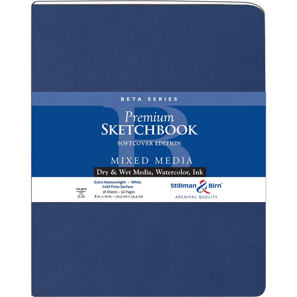 Stillman & Birn : Beta : Couverture Souple:  Cahier de Croquis : 270gsm : Grain Fin : 21x25cm (20x25cm) : Portrait