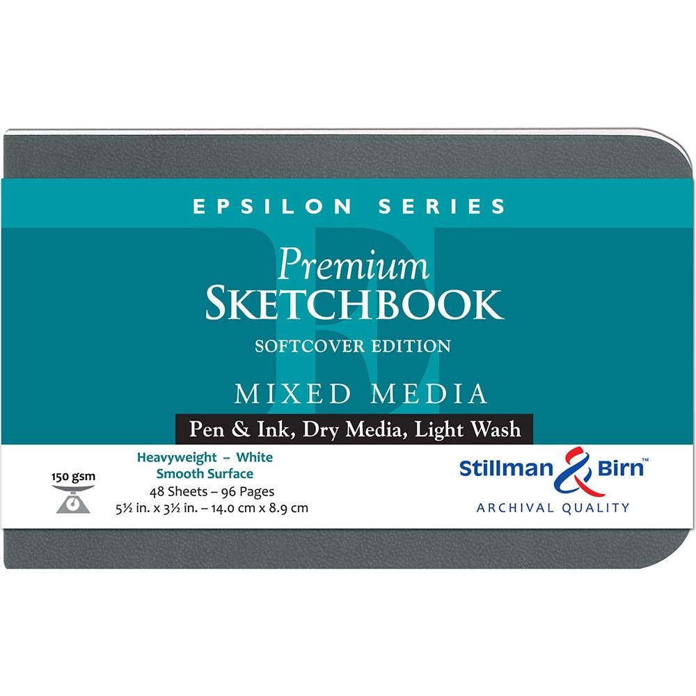 Stillman & Birn : Epsilon : Couverture Souple : Cahier de Croquis : 150gsm : Surface Lisse : 5.5x3.5in (14x9cm) : Paysage