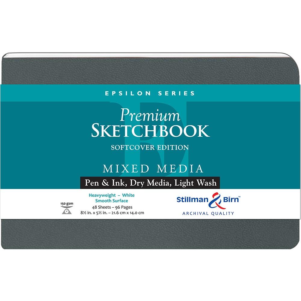 Stillman & Birn : Epsilon : Couverture Souple : Cahier de Croquis : 150gsm : Surface Lisse : 8.5x5.5in (14x22cm) : Paysage