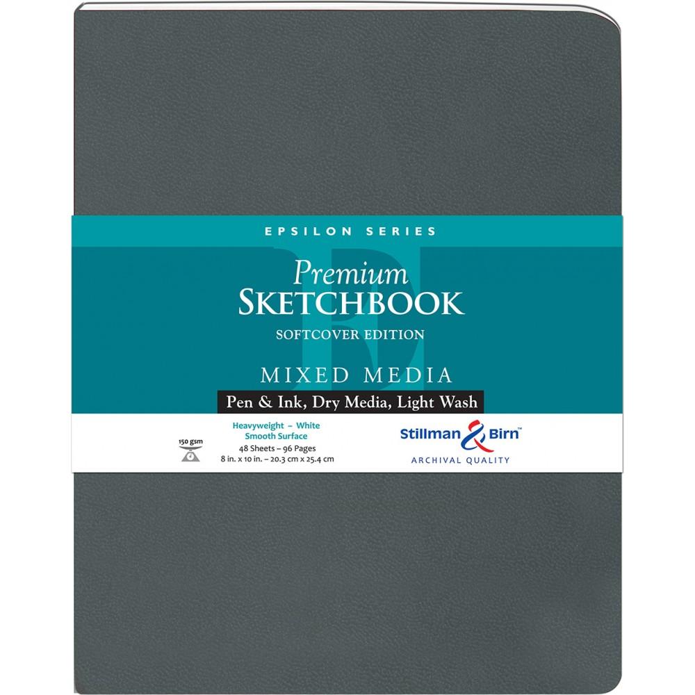 Stillman & Birn : Epsilon : Couverture Souple : Cahier de Croquis : 150gsm : Surface Lisse : 21x25cm (20x25cm) : Portrait