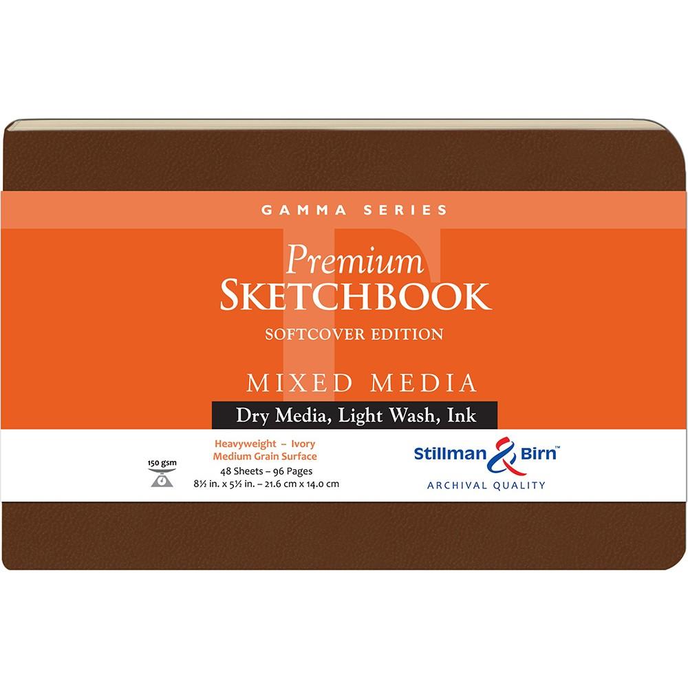 Stillman & Birn : Gamma : Couverture Souple: Cahier de Croquis : Grain Moyen : 8.5x5.5in (14x22cm) : Paysage