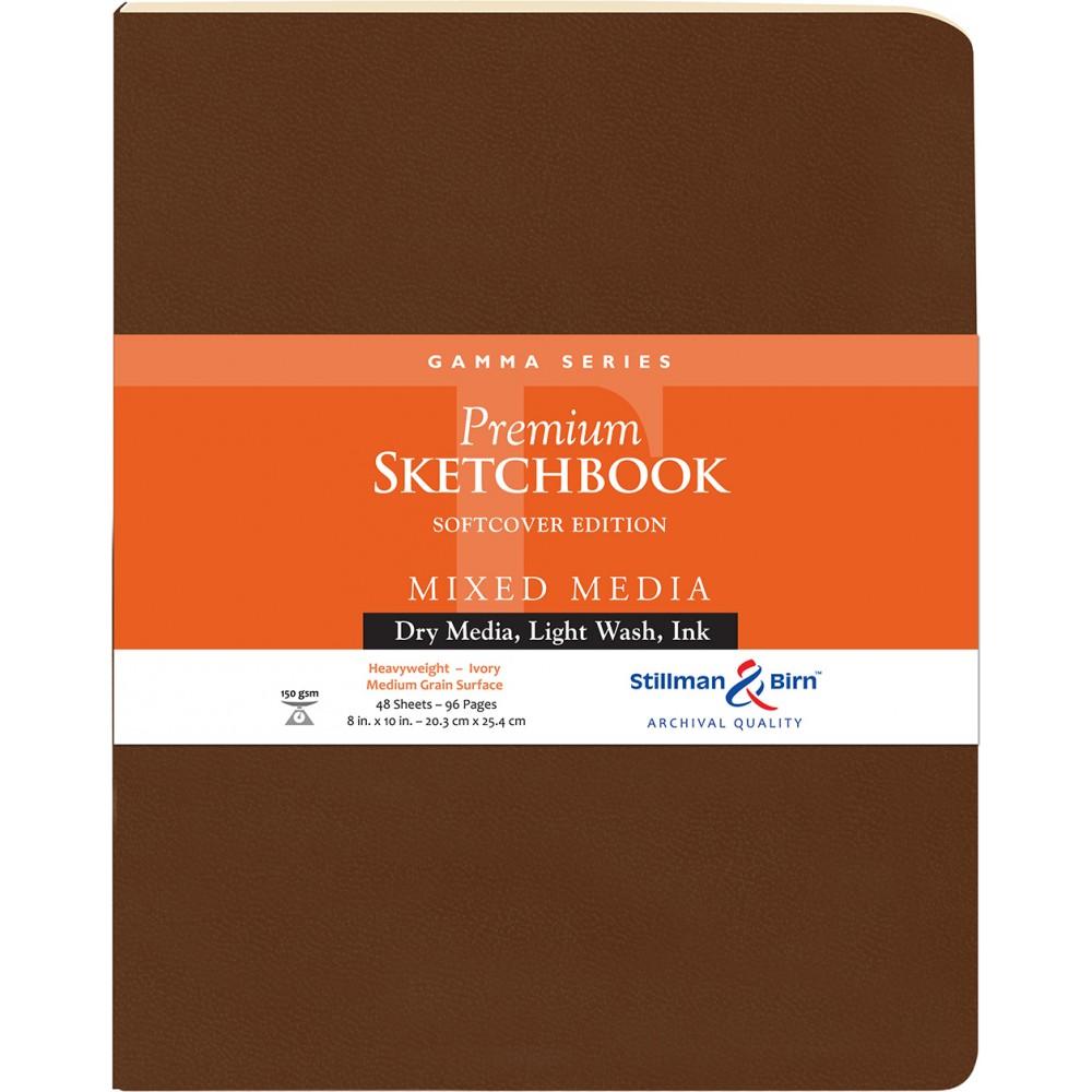 Stillman & Birn : Gamma : Couverture Souple: Cahier de Croquis : 150gsm : Grain Moyen : 21x25cm (20x25cm) : Portrait