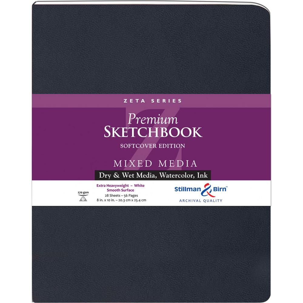Stillman & Birn : Zeta : Cahier de Croquis Couverture Souple : 270gsm: Surface Lisse : 21x25cm (20x25cm) : Portrait