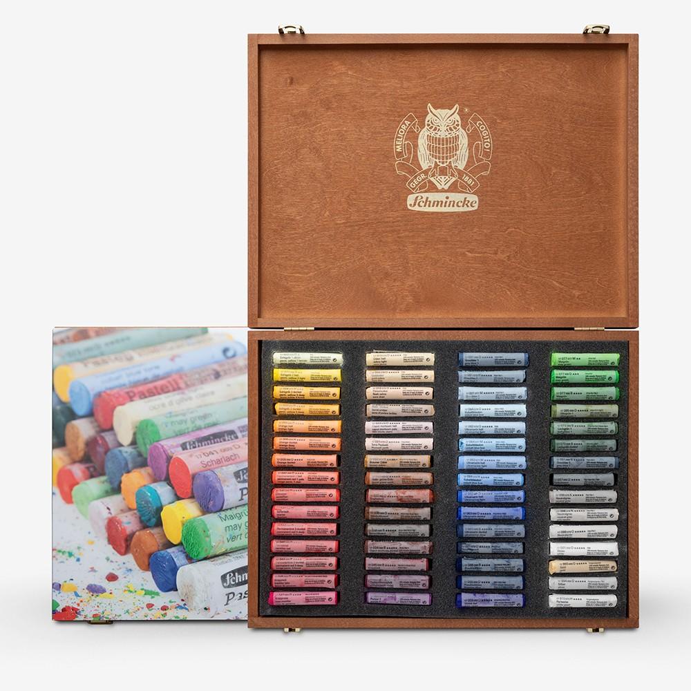 Schmincke : Soft Pastel : Wooden Case Set of 60