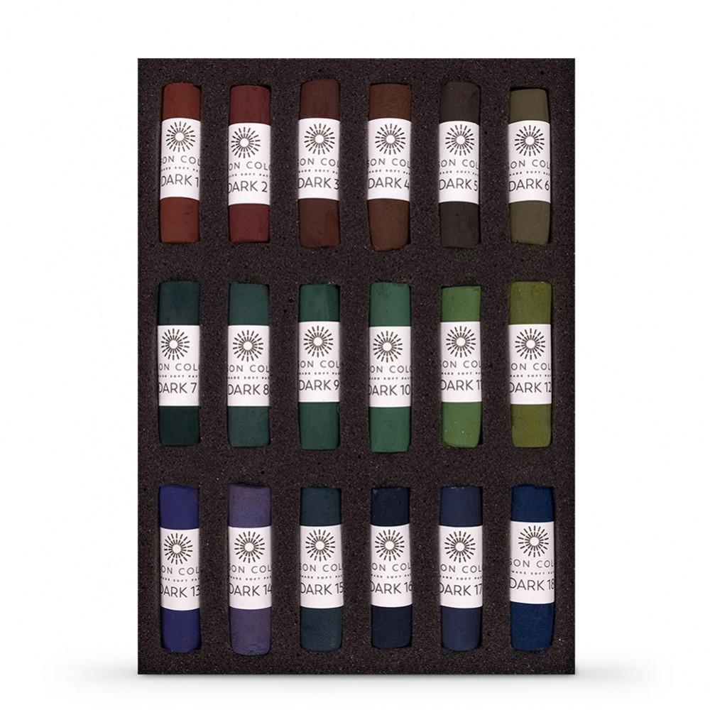 Unison Pastel secs : ensemble de 18 foncé Jewel
