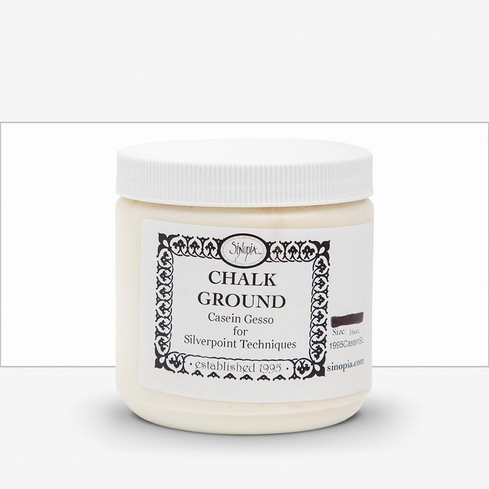 Sinopia :Plâtre : Casein Gesso:  Techniques Pointe d'Argent : 16oz (Approx. 500ml)