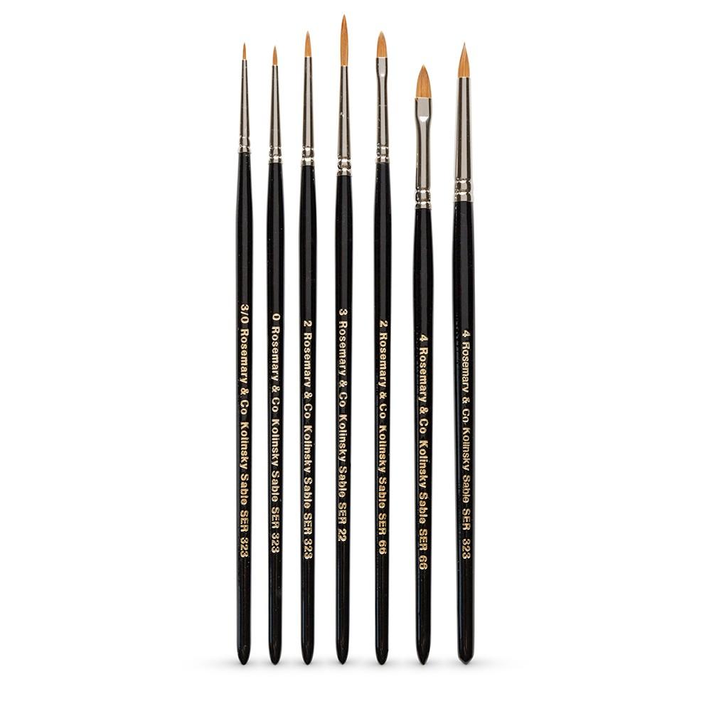 Rosemary & Co :Pinceau Botanique : Lot de 7