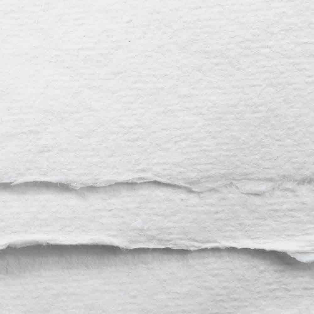Khadi :Papier Tissu Blanc : 150 gsm : A Moyen Grammage : 7x10cm : Lot de 20 Feuilles