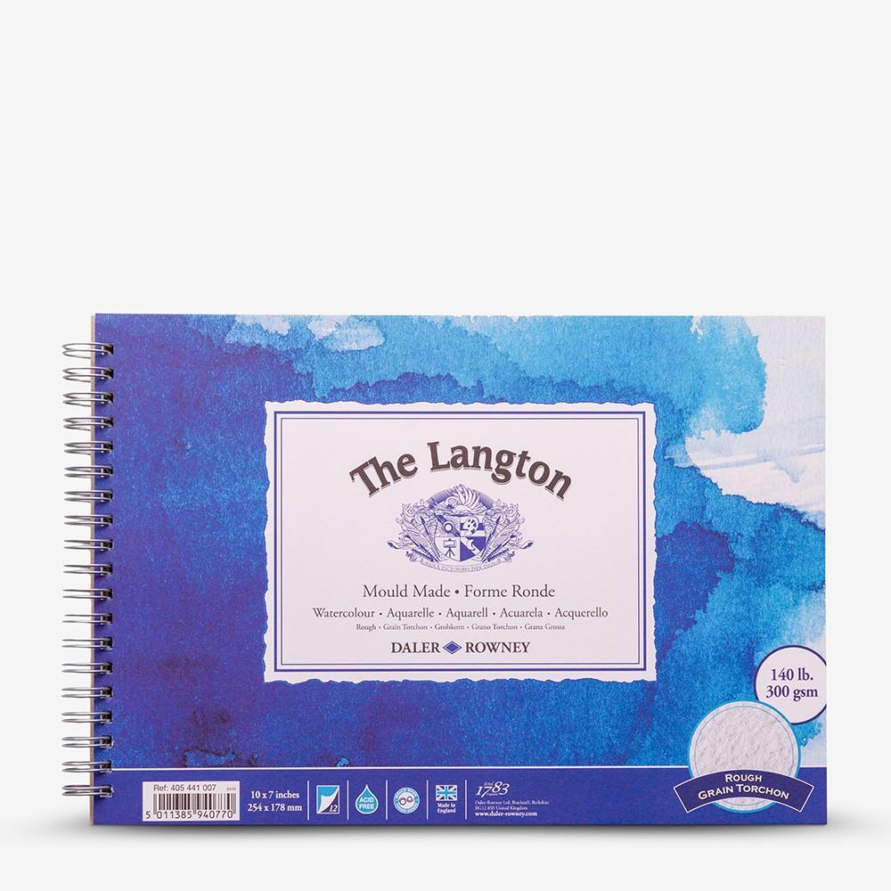 Daler Rowney : Langton : 7x10in : Bloc Papier Aquarelle  : 300g : Grain Torchon