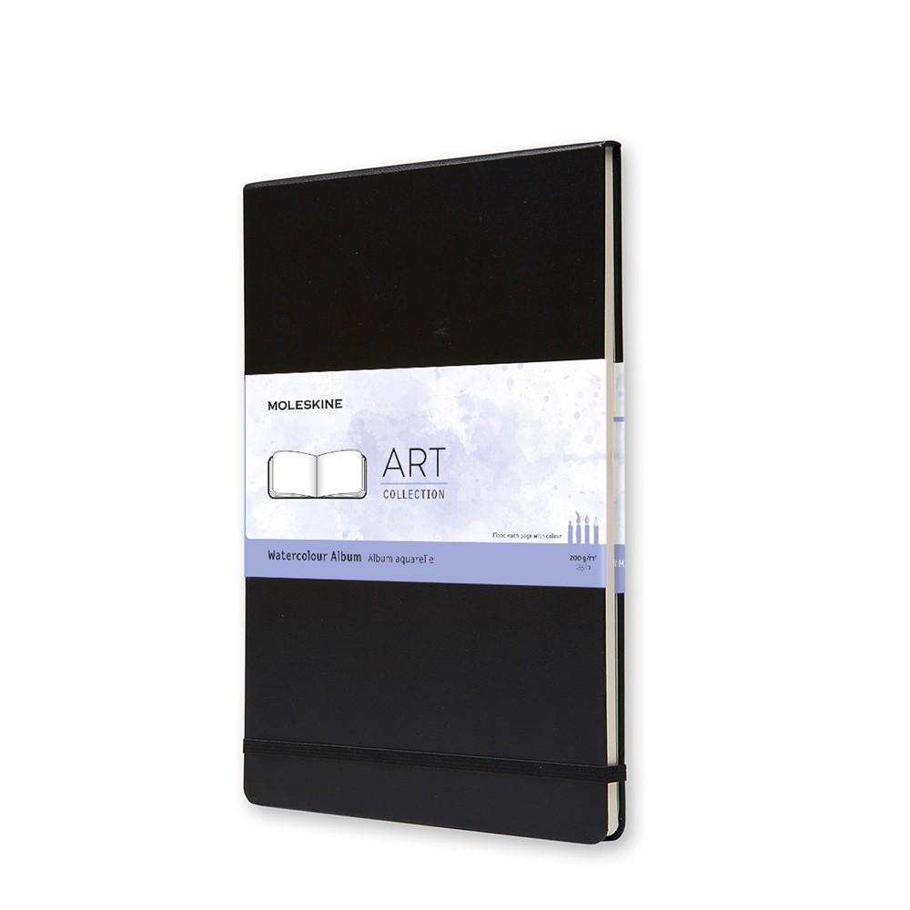 Moleskine :Watercolour Album : 200g : Couverture Rigide : 60 pages : A4 : Noir